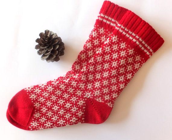 Weihnachten Wolle Socken stricken rote Wolle Socken Socken mit | Etsy