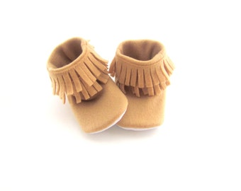 Baby Infant Moccasin - HaCo Fleece Booties - Available in sizes 1-9
