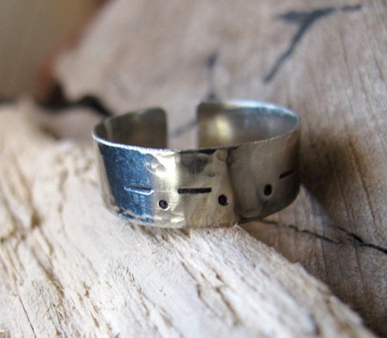 Morse Code Ring Name Ring  Secret word Ring  Custom Silver Ring  Gift for Him Custom Personalized Adjustable Band Ring for Men Women