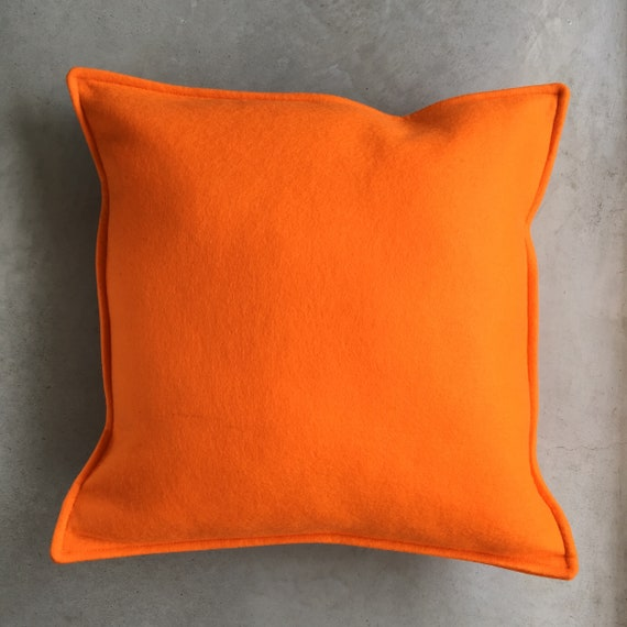 SCENERY LABEL Felt Cushion Tangerine