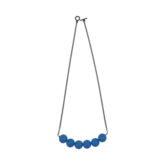 SCENERY LABEL Bead Chain Mini Blue Ball