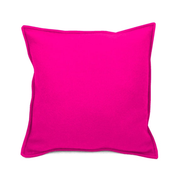 SCENERY LABEL Felt Cushion Pink