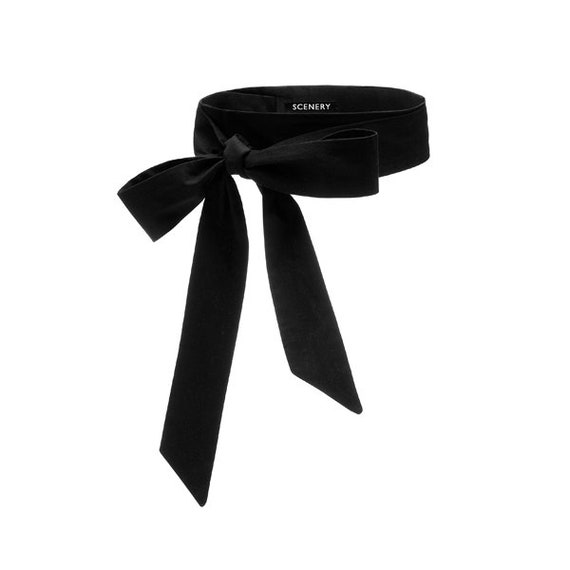 SCENERY LABEL Bow Belt Black