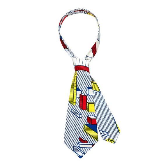 SCENERY LABEL Short Necktie Blocks