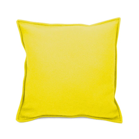 SCENERY LABEL Felt Cushion Yellow