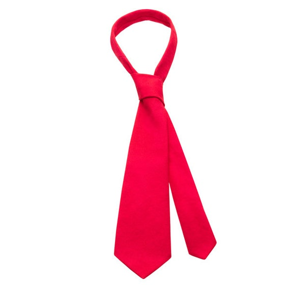 SCENERY LABEL Man Tie Red