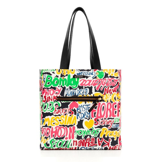 SCENERY LABEL Reversible Bag Graffiti