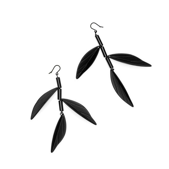 SCENERY LABEL Drop Earrings Bamboo