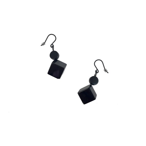 SCENERY LABEL Drop Earrings Cubes