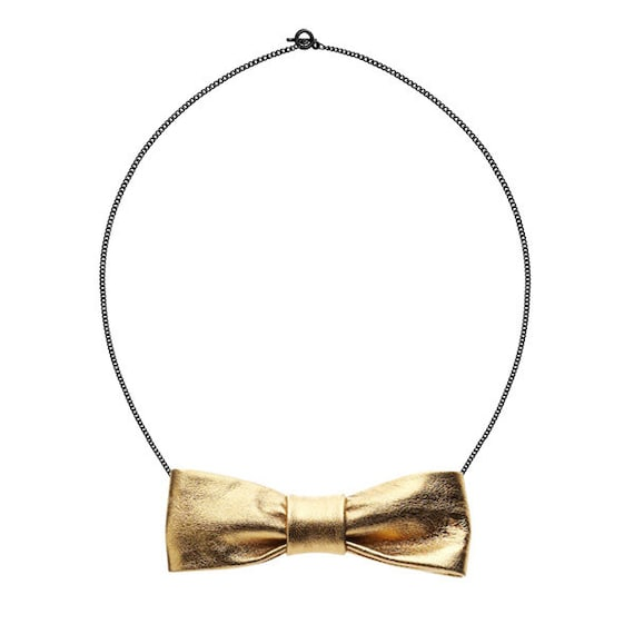 SCENERY LABEL Bow Chain Gold