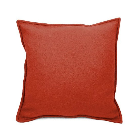 SCENERY LABEL Felt Cushion Terracotta