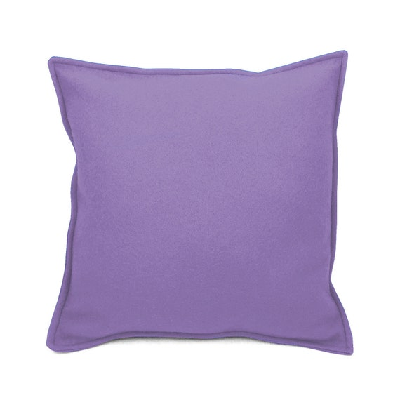 SCENERY LABEL Felt Cushion Lilac