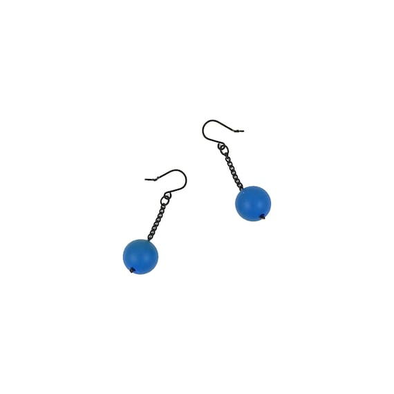 SCENERY LABEL Drop Earrings Blue Ball