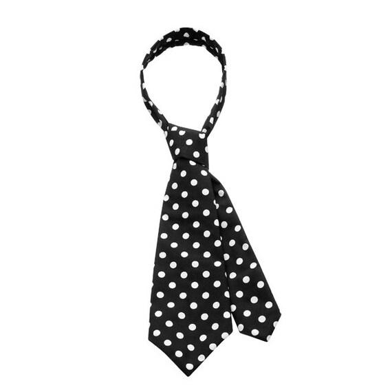 SCENERY LABEL Short Necktie Spots