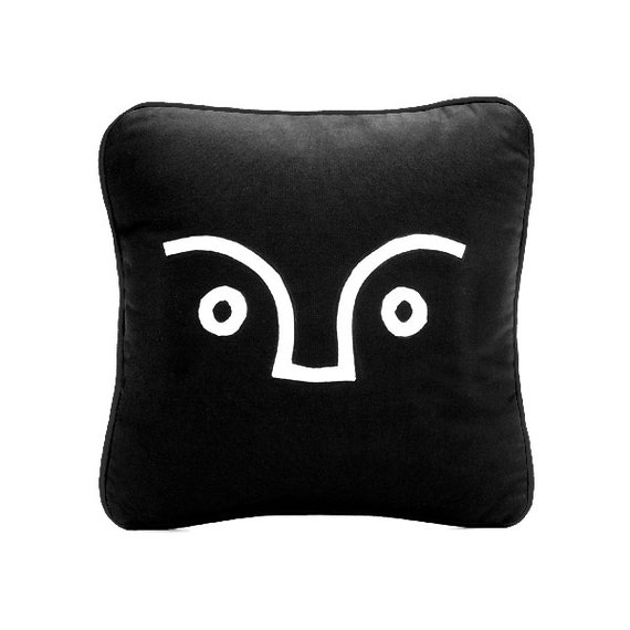 SCENERY LABEL Applique Cushion Face