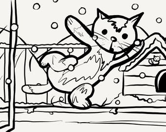 Harry Colouring Pages - Winter
