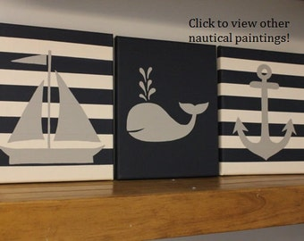 nautical nursery decor baby boy girl nautical room decor sailboat nursery whale decor whale nursery nautical theme gray and navy nautical