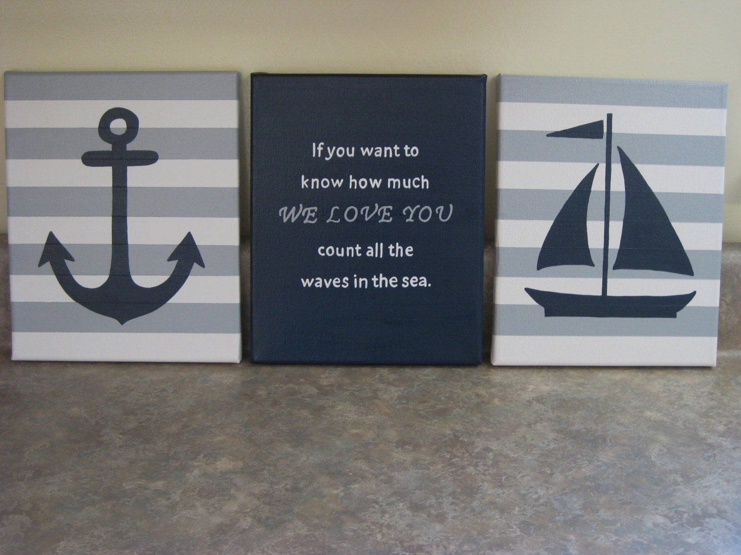 Nautical Nursery Wall Decor Baby Boy Girl Nautical 8x10 Etsy