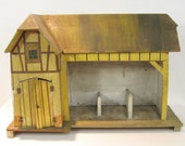 Toy Stable Antique Barn 1910 German Christmas Putz Doll Accessory