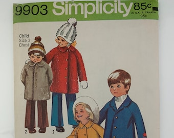 3897 Simplicity 2007 Vintage Sewing Pattern Toddler/'s Dress and Coat Size 12,1234