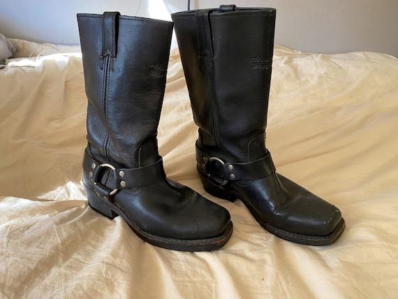 90s Harley Moto Harness Boots