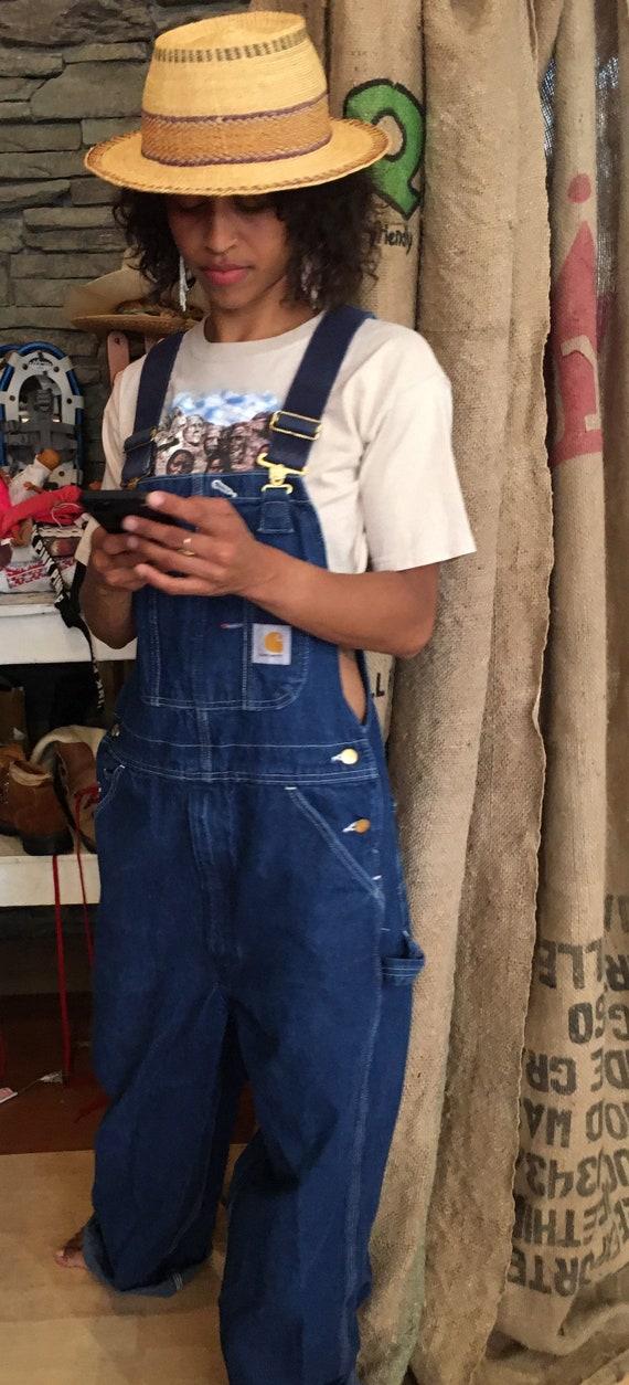Vintage Carhartt overalls denim oversized