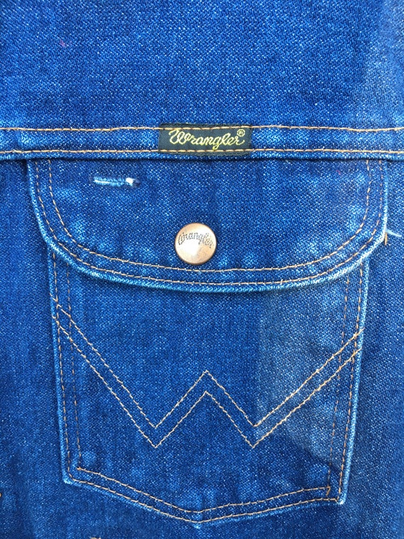 Vintage wrangler denim jacket 70's