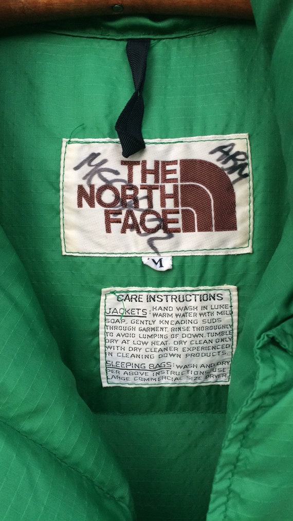 ... new style vintage north face 80s down puffer vest green medium brown  label. add to 1d40cbaa4