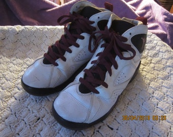 big sale ff8da c5264 Vintage 90 s Jordan 7 s Cardinal Sneakers High Tops Sz 6Y Very Good  Condition - SALE 10% OFF