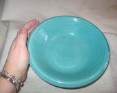 Ceramic Bowl Soup, Salad Vintage 1940s or 1950s Turquoise - SALE 10 Off