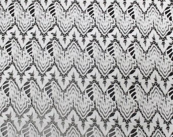 White Royalty Band Open Knit Sweater Fabric Style 6752