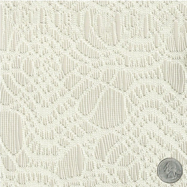 Patrón de telarañas marfil encaje Crochet tejido por la yarda | Etsy