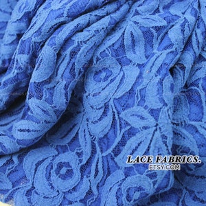 1 Yard Style 200 Royal Cotton Lace Fabric by the Yard Wedding Bridal Craft Lace Material Cotton Royal Lace Fabrics