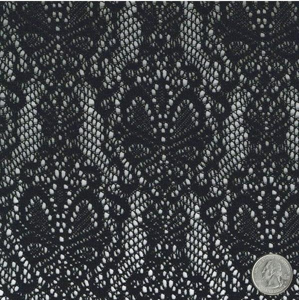 Schmetterling Muster Lace häkeln Stoff durch den Hof schwarz | Etsy