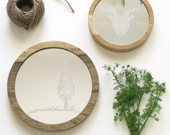 Ronde Houten Spiegel : Ronde houten spiegel ronde houten spiegel with ronde houten