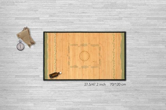 Indoor Teppich Meer Gedruckt Stock Bambusmatte Etsy