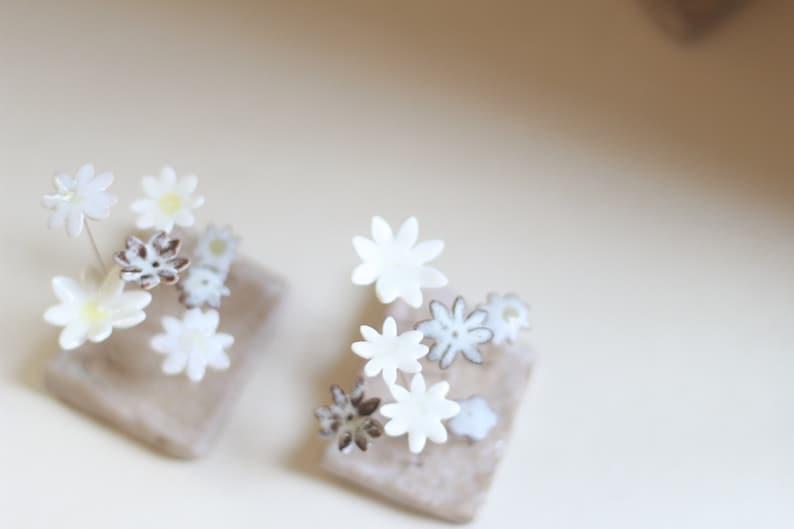 Fiona Findlay 2 ceramic flower gardens Flowers Floral artwork Gardening gift. Everlasting flowers Gift for gardener
