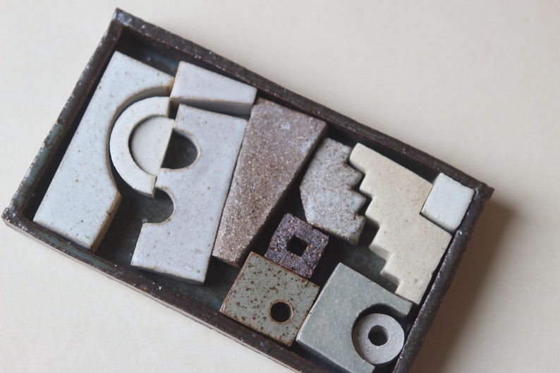 Interactive sculptural ceramics Sculptural elements. Miniature sculpture Ceramic sculpture set Art ceramics Gift for artist