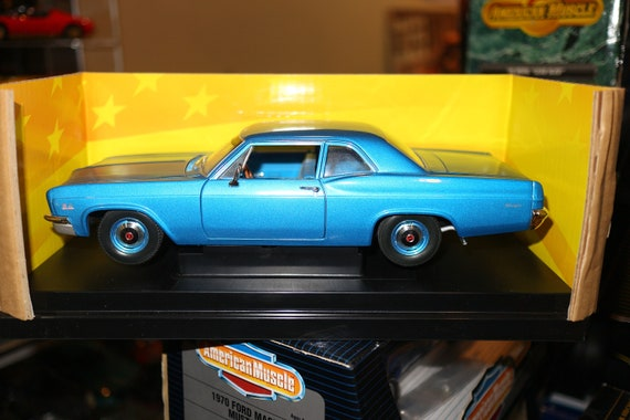 1966 chevy biscayne 1/18 diecast car blue ertl american muscle | etsy