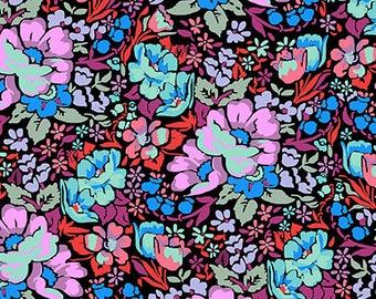 SALE Anna Maria/ Floral Retrospective/Overachiever in Velvet/ Cotton Fabric Canada/ half yard