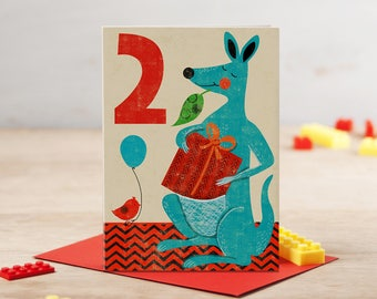 Kangaroo Happy Birthday Card