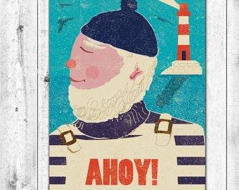 AHOY! Retro Sailor Card