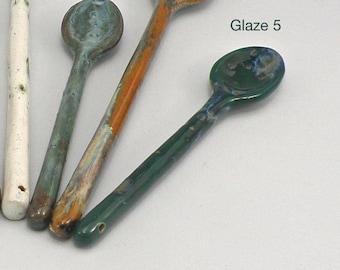 Medium size Ceramic spoon Hand made Stoneware Spoon Dishwasher safe