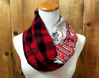 St. Cloud State University Huskers Infinity flannel T-Shirt Scarf