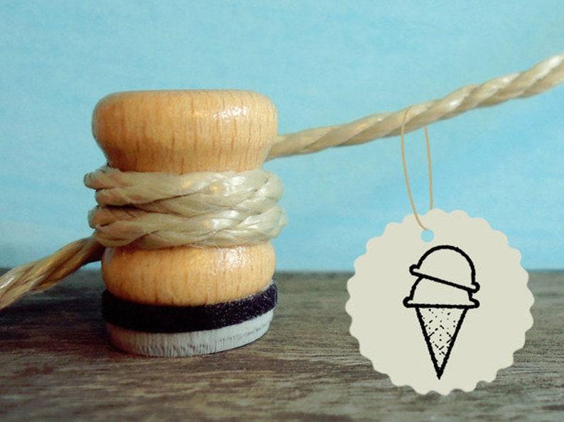 Stamp Ice cream cone rubber stamp Ø 1.5 cm image 0