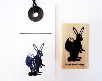 Stamp Bunny with Basket, Easter Stamp, Easter Stamp