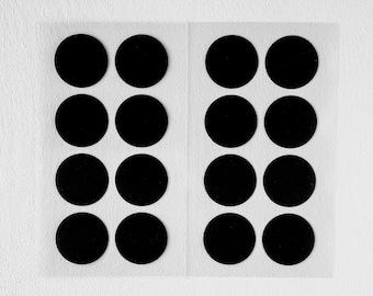 Stickers Round Black, x 2.5 cm, 32 pcs.