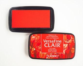 Versafine Clair Stamp Pillow Tulp Red