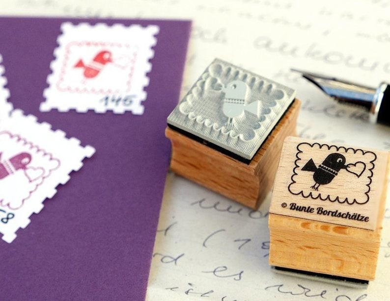 Stamps stamp Vogel 2 x 2 cm image 0