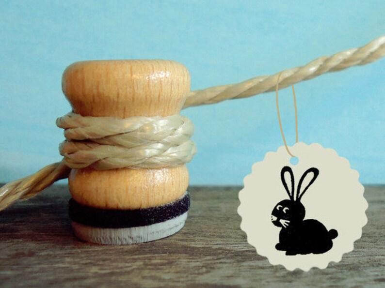 Stamp bunny mini-stamp como 1.5 cm image 0